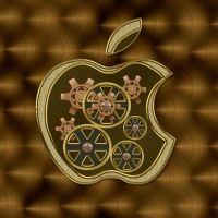 Steampunk Apple PSD by manoluv