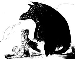 Hiccup and Toothless by suarezart