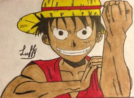 Luffy with color by francineli