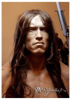 1:1 Arnold Schwarzenegger Conan The Barbarian WIP by Pedro-Moretto