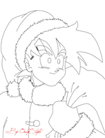 Son Gohan Navidad - Lineart by ByOnlyStyle