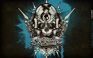 skullcandy wall the rushskull by grandee