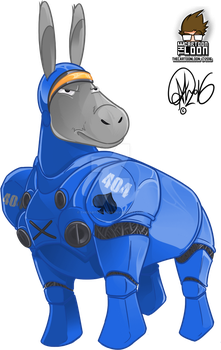 Starcraft Space Marine Donkey by TheCartoonLoon