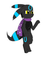 AT: Mimmi the Umbreon by SesshaXIII