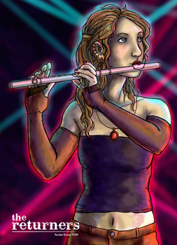Celes Chere as flute player by selie