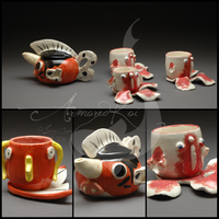 Seaking Tea Set by ArmoredKoi