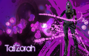Tali'Zorah Wallpaper by FantasyWiingz