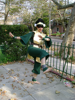 Earthbending Toph by angelussnape