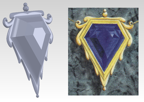 Mox Sapphire 3D design by Henry-Crun