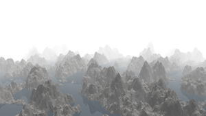 mountains in the white mist by dani8190