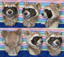 Rocket Raccoon Fursuit Head by LobitaWorks