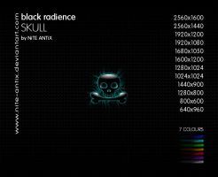 Black Radience Skull Wallpaper by NiTE-ANTiX