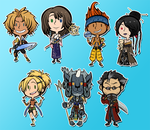 FFX STICKERS/MAGNETS/CHARMS by DarkChibiShadow