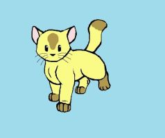 Yellow and Brown Kitty by RunningSpud