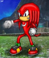 Knuckles the Echidna by Jedgesaurus