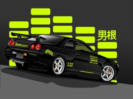 R34 GTR by ronaldesign