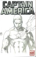"Captain America Sketch Variant ""BRANDED"" by Ace-Continuado"