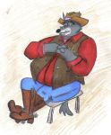 Old West Sheriff- colored by TheCheshireKat