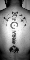 Lotus, Enso, Butterfly, Kanji by jkrasher