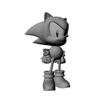 Sonic Render by A-Scream