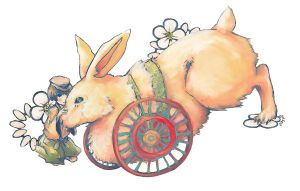 rickshaw rabbit by RandomRemix