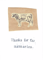 Thanks For The Mammaries Card by BlueSpecsStudio