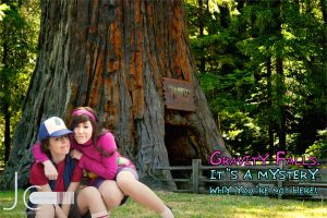 Gravity Falls - Greetings From Dipper and Mabel by Nayias01