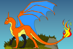 A Wild Charizard Appeared! by DRAGONLOVER101040