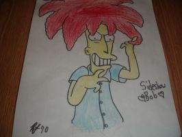 Crazy Sideshow Bob Drawing by sclirada