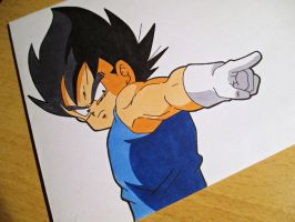 Tegami Art No.42 .:Kid Vegeta:. by SakakiTheMastermind
