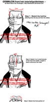 GRIMMJOW: Front hair tutorial by blackstorm