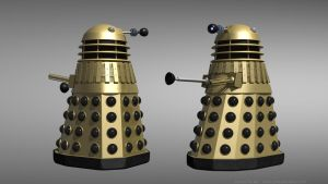 Day of the Daleks - Gold Dalek reimagined by Jim197