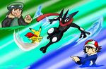 James VS Ash ~Request~ by Xero-J