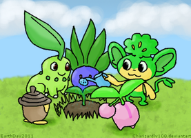 Grass Growing Berries by Chari-Artist