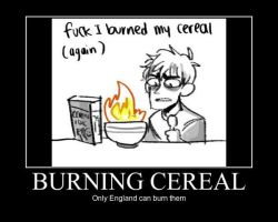 APH Poster: Burning Cereal by A-Awesome