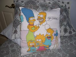 Simpsons Pillow by LaDracul