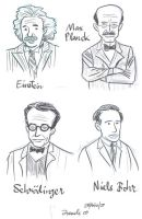 Physicists Sketches by Juanele