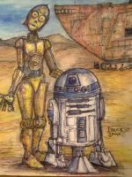 R2D2 and C3P0 by butchRbill