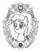 Derpy Vintage Profile (Line Art) by Template93