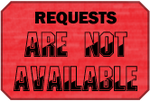 Not Available Requests Badge by LevelInfinitum