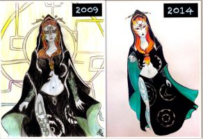5 Years Difference In Drawing Skills by TravelingArtist93
