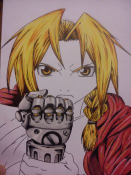 Edward Elric WIP 2 by Blaz1ng-Note