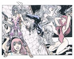 Silver Sable Mary Jane and Bla by willlokes