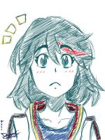 Matoi Ryuko Sketch by chochons