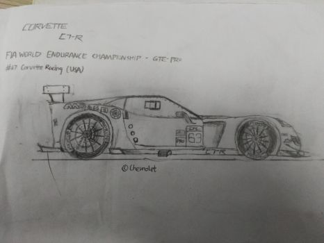 sketch of Corvette C7-R GTE by RD4590