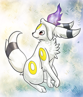 C: Umbreon+Litwick Fusion by Skeletpengu