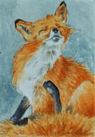 ATC Foxy Itch by waughtercolors