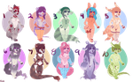 Flatsale chibi adopts! PRICES LOWERED (OPEN 7/10) by Leodrolf
