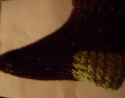 chocolate  mint  sock by tabby25