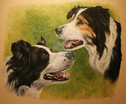 Bertie and Wilf (commission) by Stephanie-Greaves